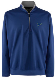 St Louis Blues Antigua Leader 1/4 Zip Pullover - Blue