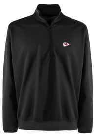 Kansas City Chiefs Antigua Leader 1/4 Zip Pullover - Black