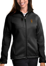 Arizona State Sun Devils Womens Antigua Traverse Medium Weight Jacket - Black