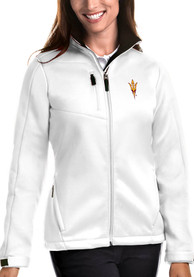 Arizona State Sun Devils Womens Antigua Traverse Medium Weight Jacket - White