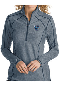 Antigua Villanova Wildcats Womens Tempo Navy Blue 1/4 Zip Pullover