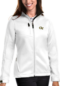GA Tech Yellow Jackets Womens Antigua Traverse Medium Weight Jacket - White