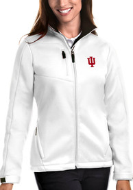 Indiana Hoosiers Womens Antigua Traverse Medium Weight Jacket - White