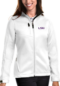 LSU Tigers Womens Antigua Traverse Medium Weight Jacket - White