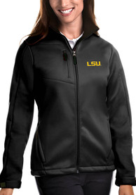 LSU Tigers Womens Antigua Traverse Medium Weight Jacket - Black