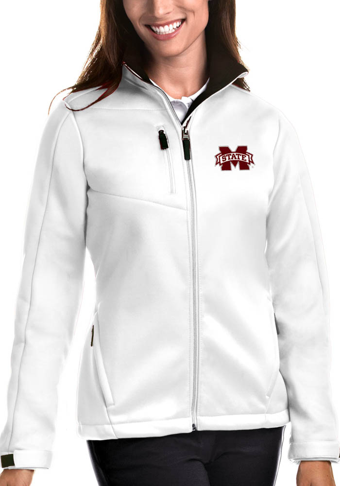 Antigua Mississippi State Bulldogs Womens White Traverse Heavy Weight Jacket - Image 1
