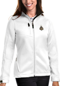 Purdue Boilermakers Womens Antigua Traverse Medium Weight Jacket - White