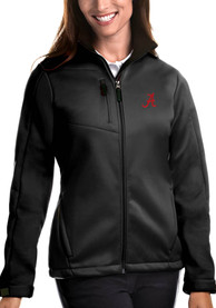 Alabama Crimson Tide Womens Antigua Traverse Medium Weight Jacket - Black