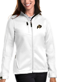 Colorado Buffaloes Womens Antigua Traverse Medium Weight Jacket - White