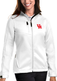 Houston Cougars Womens Antigua Traverse Medium Weight Jacket - White