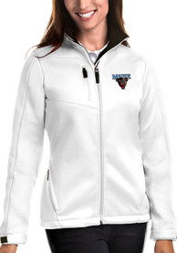 Maine Black Bears Womens Antigua Traverse Medium Weight Jacket - White