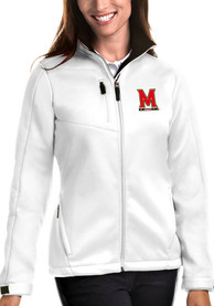 Maryland Terrapins Womens Antigua Traverse Medium Weight Jacket - White