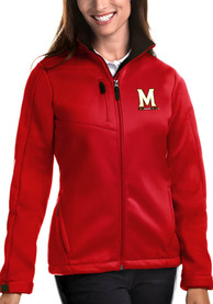 Maryland Terrapins Womens Antigua Traverse Medium Weight Jacket - Red