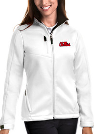 Ole Miss Rebels Womens Antigua Traverse Medium Weight Jacket - White