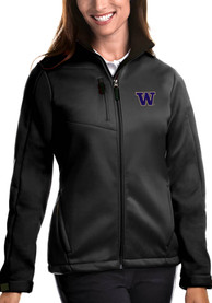 Washington Huskies Womens Antigua Traverse Medium Weight Jacket - Black