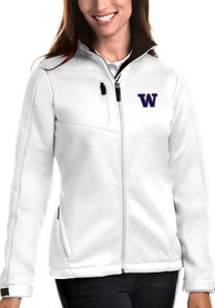 Washington Huskies Womens Antigua Traverse Medium Weight Jacket - White
