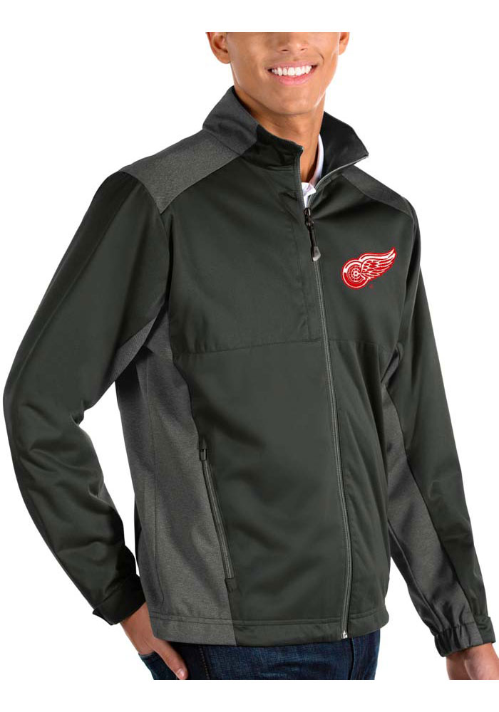 Antigua Detroit Red Wings Mens Grey Revolve Medium Weight Jacket - Image 1