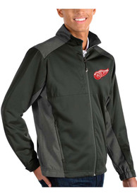 Detroit Red Wings Antigua Revolve Medium Weight Jacket - Charcoal