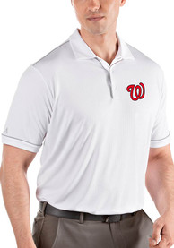 Washington Nationals Antigua Salute Polo Shirt - White