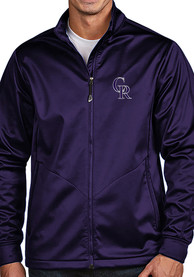 Colorado Rockies Antigua Golf Light Weight Jacket - Purple