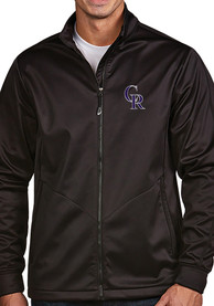 Colorado Rockies Antigua Golf Light Weight Jacket - Black