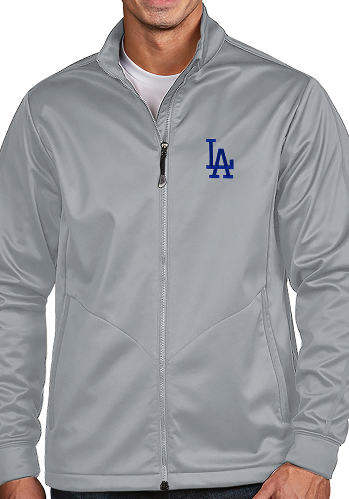Antigua Los Angeles Dodgers Mens Silver Golf Light Weight Jacket - Image 1