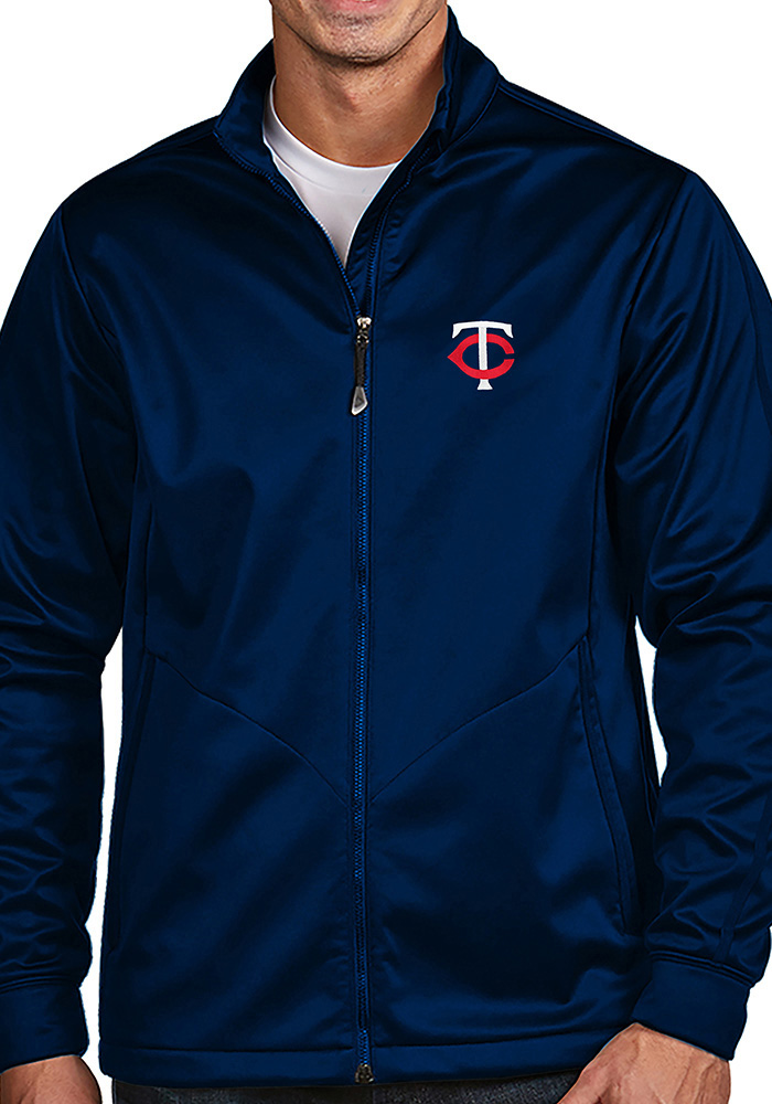 Antigua Minnesota Twins Mens Navy Blue Golf Light Weight Jacket - Image 1