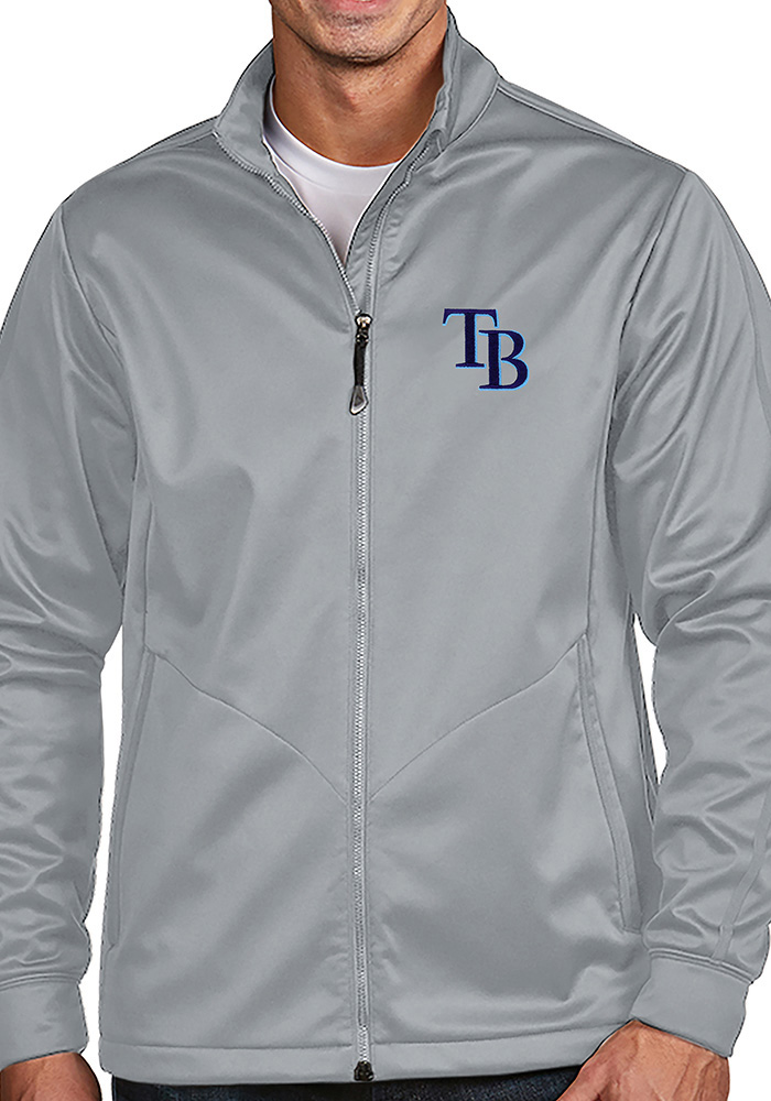 Antigua Tampa Bay Rays Mens Silver Golf Light Weight Jacket - Image 1