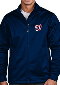 Washington Nationals Antigua Golf Light Weight Jacket - Navy Blue