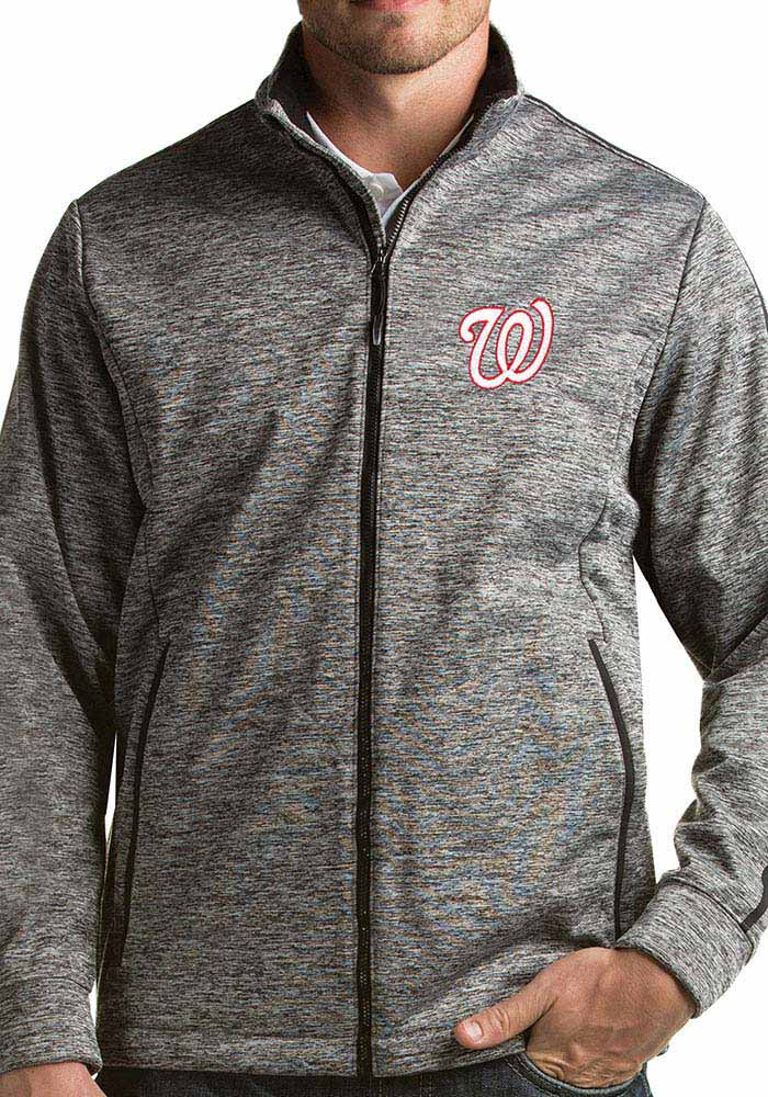 Antigua Washington Nationals Mens Black Golf Medium Weight Jacket - Image 1