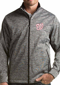 Washington Nationals Antigua Golf Light Weight Jacket - Black