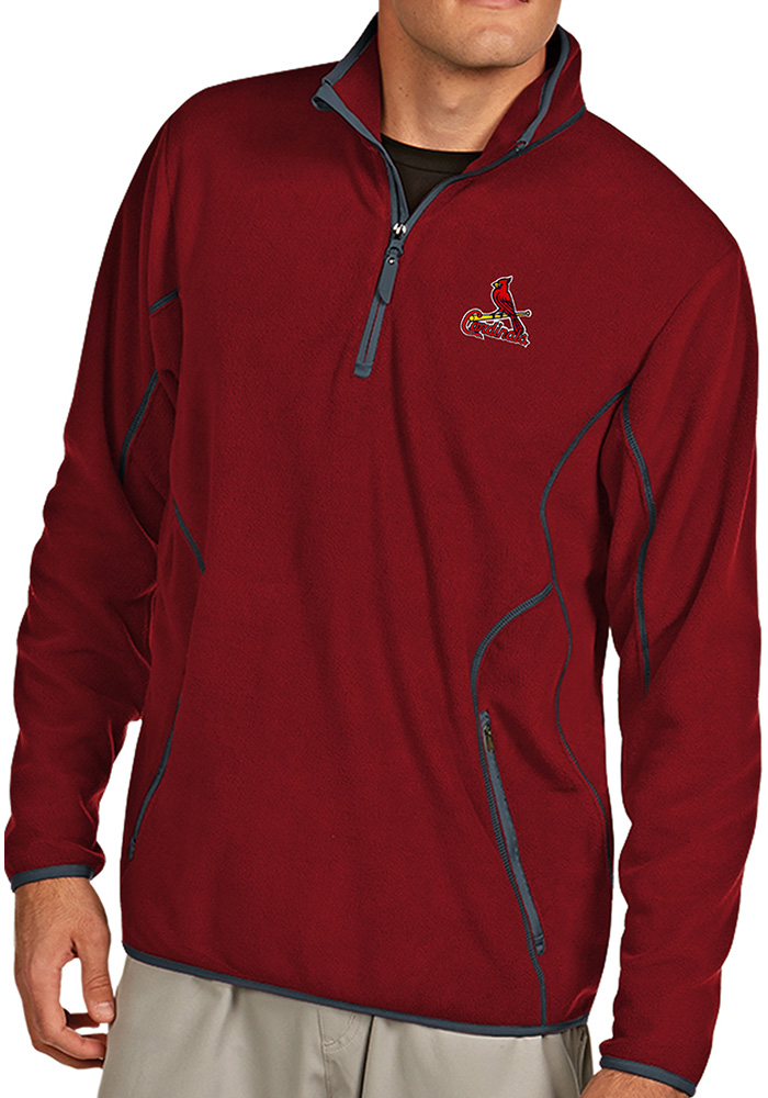 Antigua St Louis Cardinals Mens Red Ice Long Sleeve 1/4 Zip Pullover - Image 1