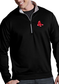Boston Red Sox Antigua Leader 1/4 Zip Pullover - Black