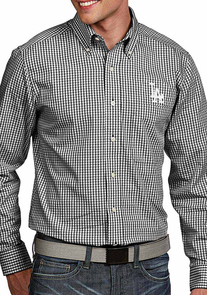 Los Angeles Dodgers Mens Black Associate Long Sleeve Dress Shirt - Image 1