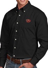 Antigua Arizona Diamondbacks Black Dynasty Dress Shirt