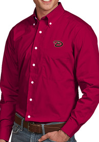 Arizona Diamondbacks Antigua Dynasty Dress Shirt - Red