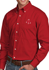 Boston Red Sox Antigua Dynasty Dress Shirt - Red