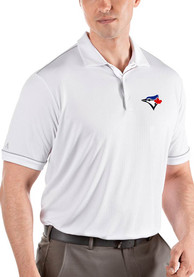 Antigua Toronto Blue Jays White Salute Short Sleeve Polo Shirt