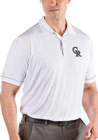 Colorado Rockies Antigua Salute Polo Shirt - White
