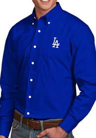 Los Angeles Dodgers Antigua Dynasty Dress Shirt - Blue