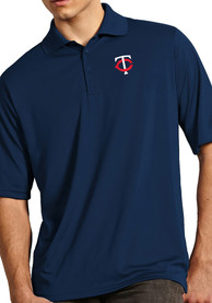 Antigua Minnesota Twins Navy Blue Exceed Short Sleeve Polo Shirt