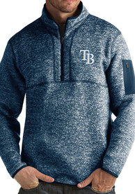 Tampa Bay Rays Antigua Fortune 1/4 Zip Fashion - Navy Blue
