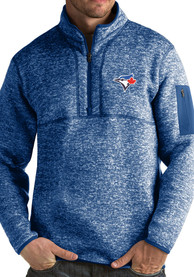 Antigua Toronto Blue Jays Blue Fortune 1/4 Zip Fashion Pullover