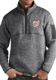 Washington Nationals Antigua Fortune 1/4 Zip Fashion - Grey
