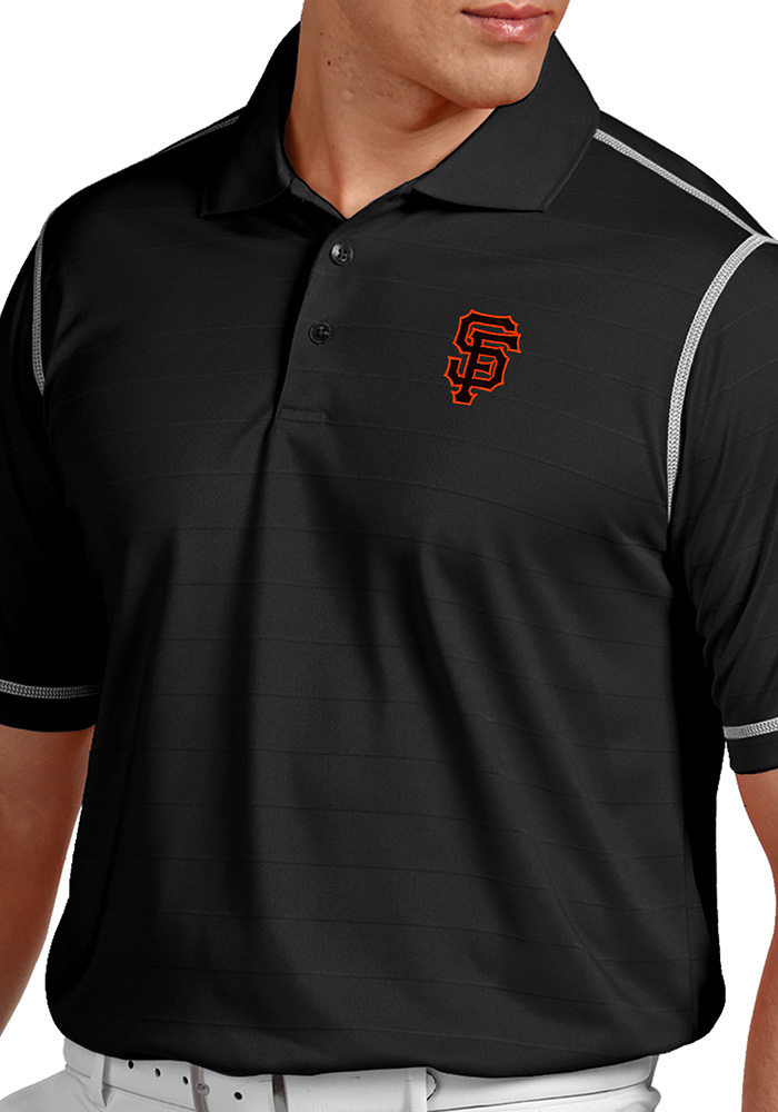 Antigua San Francisco Giants Mens Black Icon Short Sleeve Polo - Image 1