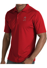Antigua Los Angeles Angels Red Inspire Short Sleeve Polo Shirt