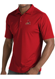 Antigua St Louis Cardinals Red Inspire Short Sleeve Polo Shirt