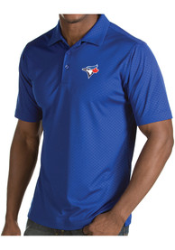 Antigua Toronto Blue Jays Blue Inspire Short Sleeve Polo Shirt