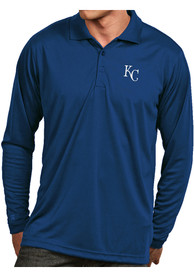 Kansas City Royals Antigua Exceed Polo Shirt - Blue