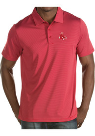 Antigua Boston Red Sox Red Quest Short Sleeve Polo Shirt